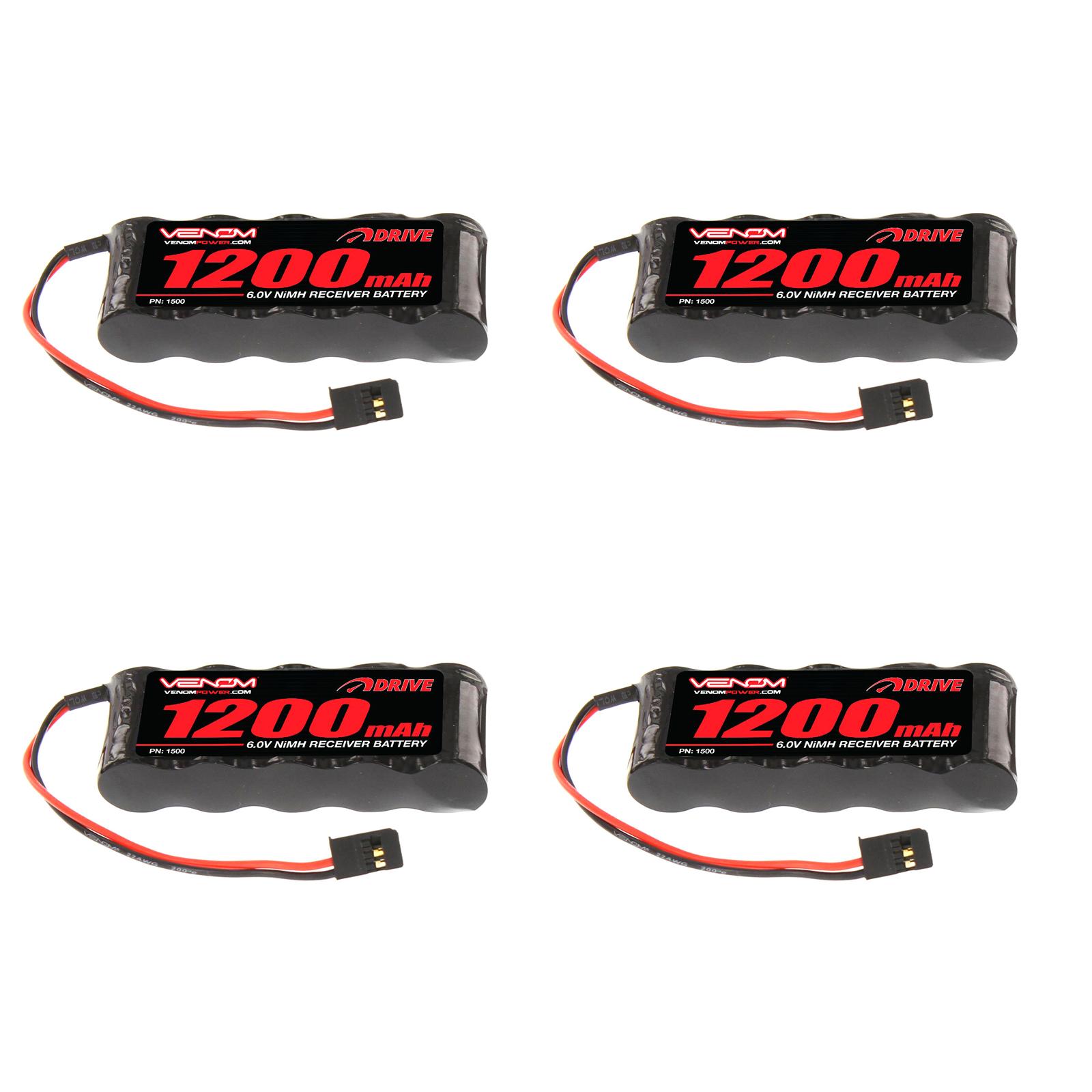 Venom Group International 1500 6V 1200 mAh NiMH Flat RX Battery
