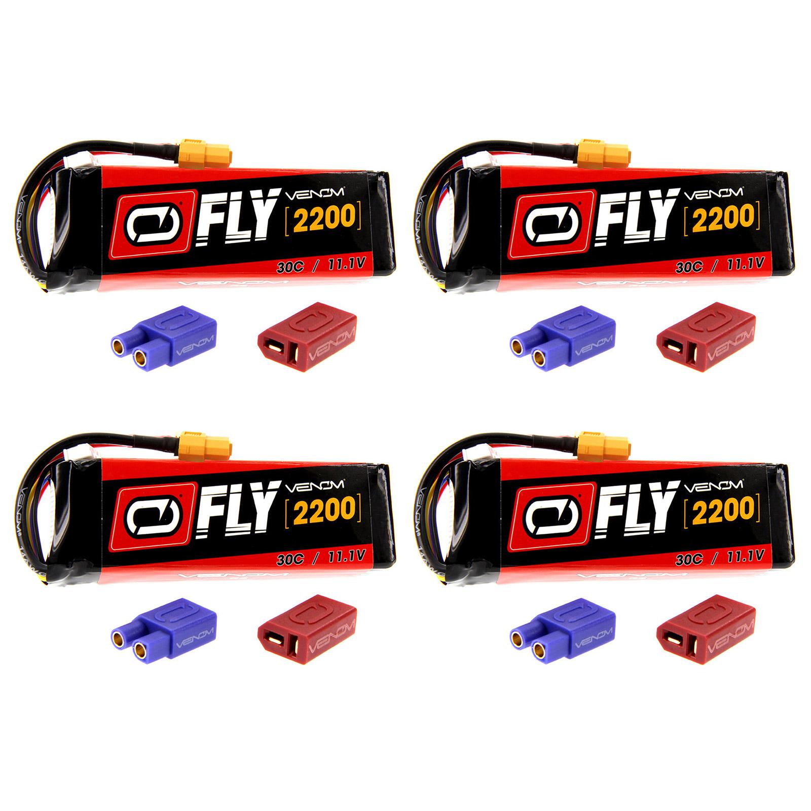 Venom Fly 50C 3S 2200mAh 11.1V LiPo Battery with UNI 2.0 Plug